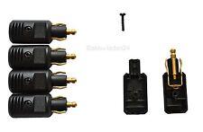 5X Pequeño enchufe estándar para toma de corriente eléctrica de la motocicleta (