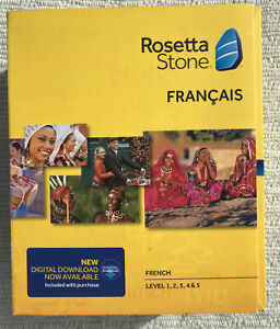 Rosetta Stone French Level 1-5  for Mac and PC. Francais