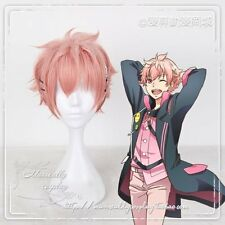 Anime ツキウタ KISARAGI KOI  Pink Mixed Wig Cosplay Harajuku Gradient Short Curls