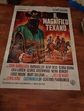 manifesto,Il Magnifico Texano,1967,Capuano,Glenn Saxson,Serato,Western italian