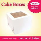 Cake Boxes Window Face 10x10x12 Inches High 10PK Wedding Cake Box Cake Boxes