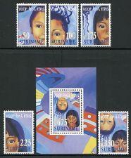 SURINAM 1997 Kinder Children 1623-27 + Bl.71 ** MNH