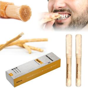 Groomarang Miswak Organic Toothbrush Natural Teeth Whitening Stick Deep Cleaning