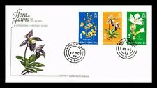 DR JIM STAMPS ORCHID FLOWERS FIRST DAY ISSUE HONG KONG MONARCH SIZE COVER