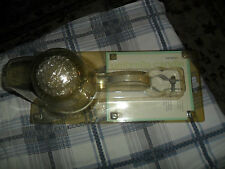 NIB MARTHA STEWART OUTDOOR UMBRELLA VOTIVE DOTTED GLASS CANDLE HOLDER