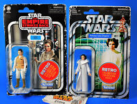 Star Wars Vintage Style💥PRINCESS LEIA & LEIA (HOTH)💥RETRO COLLECTION✅Lot of 2