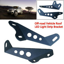 2PCS Off-road SUV Roof LED Light Strip Bracket Motorcycle Car Upper Bar Bracket