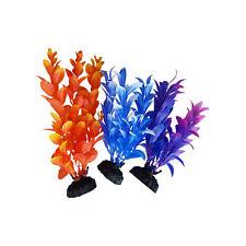 "Plastic Plant Multi-pack 3 pack, 6""-7"" Fish Tank Aquarium Foliage Decor Ornament"