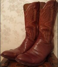 LUCCHESE Leather Cowboy Boots for Men (Size 13, Handmade, Made in USA) Pre-Owned