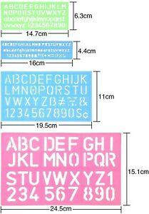 4 Letter Stencil Alphabet Stencils Number Craft Ruler Letter Stencils Guides Set