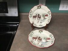 Better Homes and Gardens Heritage Collection Horses 2 Salad Plates