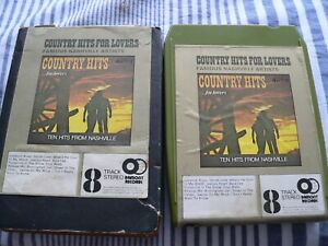 Country Hits For Lovers, 8 track tape