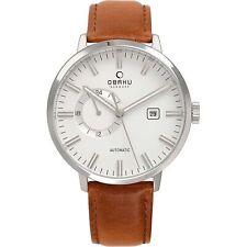 Obaku Utrolig Cognac Men's Wristwatch V210GTCIRZ