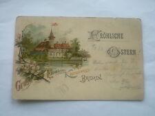 AK Litho Bremen, Gruß v Emmasee Kaffeehaus, Fröhliche Ostern. gel 1898