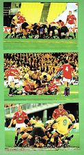 #D222. SET  OF  SIX RUGBY UNION POSTCARDS, 2001 WALLABIES V LIONS