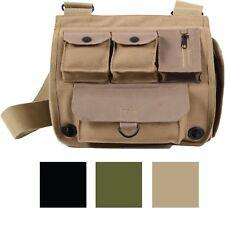 Canvas Military Shoulder Bag Messenger Pocket Army Camping Crossbody Handbag