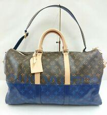 Louis Vuitton Keepall 50 Bag Monogram Pacific Sprit Blue M43861 Hand Shoulder LV