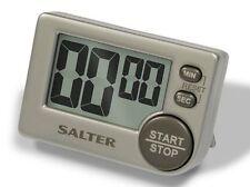Salter Big Button Digital Electronic Silver Kitchen Timer 397SVXR