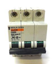 MERLIN GERIN CIRCUIT BREAKER 17467, C60N, 30 AMP, TYPE C, 480 VAC, MADE IN ITALY