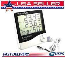 LCD In/Out Digital Clock, Humidity Sensor Thermometer Temperature Meter C / F