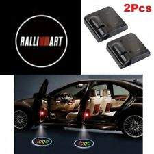 2x Ralliart Wireless Car Door Welcome LED Shadow Lights Courtesy Projector Ghost