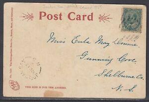 Canada - Oct 15, 1906 Jordan Bay, NS Split Ring Cancel on Domestic Card