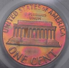 """1983 Doubled Die Reverse Lincoln DDR - Gorgeous """"Aurora Borealis"""" Hues! #10420"""