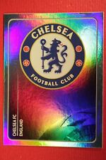 PANINI CHAMPIONS LEAGUE 2011/12 N. 277 BADGE CHELSEA WITH BACK BACK MINT!!