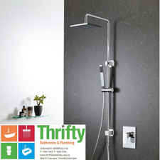 Caroma Track Rail Shower with Overhead WELS 3 Star 90212C3A