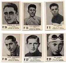 Lote de 6 cromos de ciclistas famosos. Años 30. Learco Guerra, Le Drogo y otros