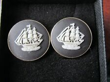 Hand Made Pouch Select Gifts Cuff links Arched Cufflinks~Dalmation~Jasper Cufflinks