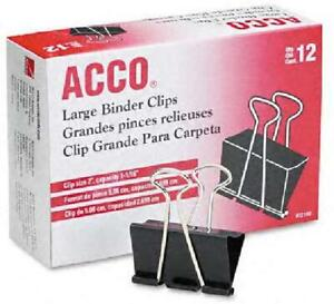 Big Binder Clips Paper Bag Strong Clamps Large Jumbo Size 12 Pack Steel Wire