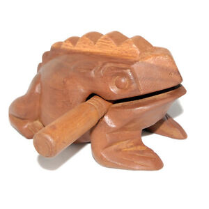 Wooden Croaking Frog Guiro - 8in