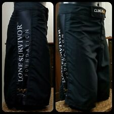 Clinch Gear Shorts Mma Bjj Jiu Jitsu Lone Survivor Foundation Black Sz 40