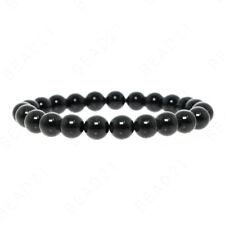 Shungite Bracelet 8mm Handmade Natural Beads Round Stretch Radiation Karelia EMF