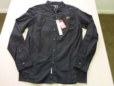 026 MENS NWT G-STAR RAW 'COM AIR DRESS' BLACK L/S SHIRT MEDM $170.