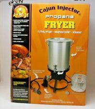 Cajun Injector Propane Deep Fryer Steamer Turkey 30 Quart w Safety Shutoff New
