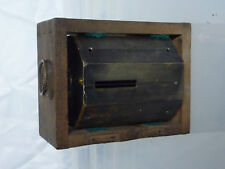 Scientific Instrument. Surveyor's brass cross staff 45 degree.+wood case. c1800