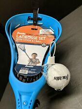 "Franklin Lacrosse Youth/Junior 32"" Stick & Ball Starter Set, Learn Train, Blue"