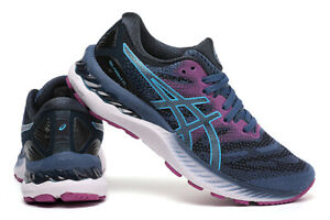 Women's ASICS GEL-NIMBUS 23 Cushion Breathable Athletic Sports Running Shoes