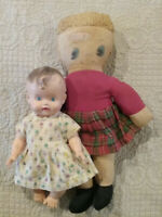 """BABY and BooBoo """"Fifties Duo"""" My very first dolls - I received both in 1958"""