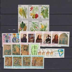 S18161) Vatican MNH 1992 Complete Year Set 26v + S/S (2 Scans)