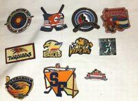 Lot of 11 Minor League Hockey Hat / Lapel Pins ~ Various Cities ~ Metal