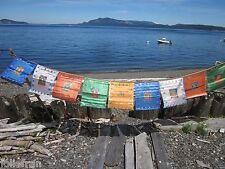"11 X 13""+ 10 FLAGS AMAZING DETAIL SATIN 5 BUDDHAS TIBETAN BUDDHIST PRAYER FLAGS"