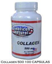 COLLAGEN 500mg  100 capsules American Natural colageno en pastillas, colageina10