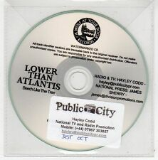 (FE832) Lower Than Atlantis, Beech Like The Tree - 2011 DJ CD