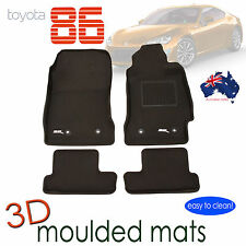 Fits Toyota 86 2012 - 2018 Rubber 3D Car Mats - Auto Transmisson Only