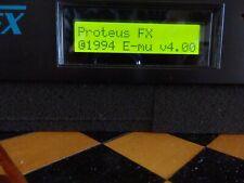 EMU E-MU Ensoniq ProteusFX Proteus FX works 100% Very CLEAN!! w/power adapter!