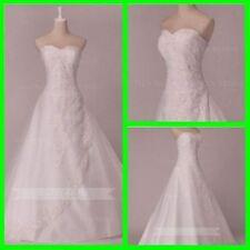 Lace Organza A-Line Sleeve Wedding Dresses