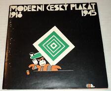CZECH POSTERS 1984 Exhibition Catalog: MODERNI CESKY PLAKAT, 1918-1945